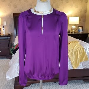 Limited pullover fuchsia blouse